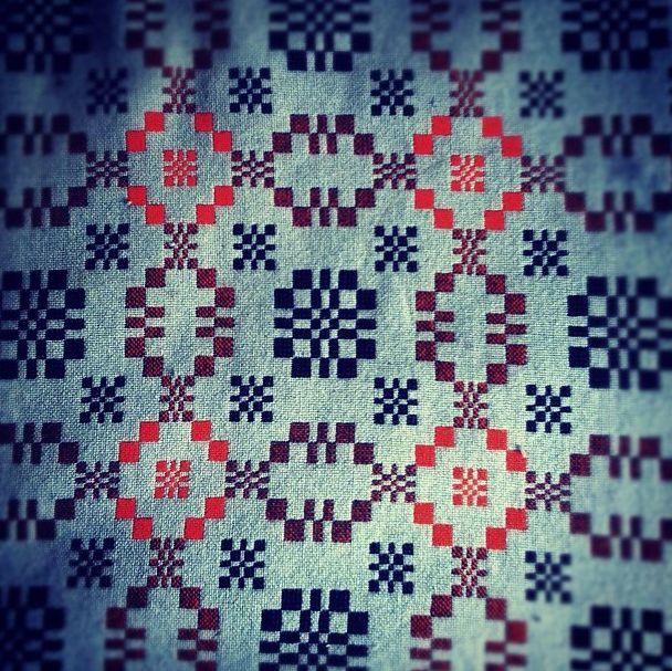 Traditional Welsh blanket.