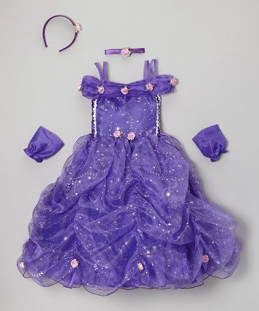 Take a look at this Purple Star Princess Dress Set - Toddler & Girls by Cinderella Couture on #zulily today!