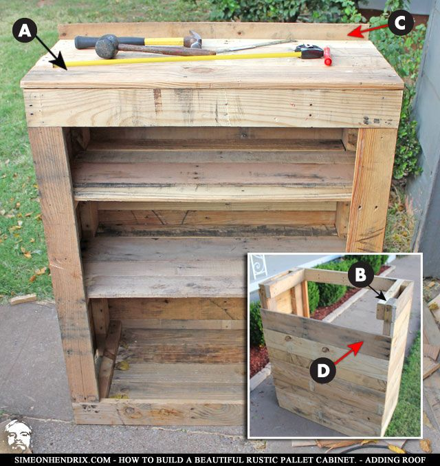 1000+ Ideas About Pallet Cabinet On Pinterest