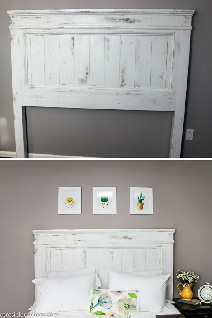 Build this Farmhouse Style Headboard for around $100! It will be the center