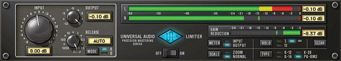 Precision Limiter Plug-In from Universal Audio #audiounits #rtas #vst #uad2