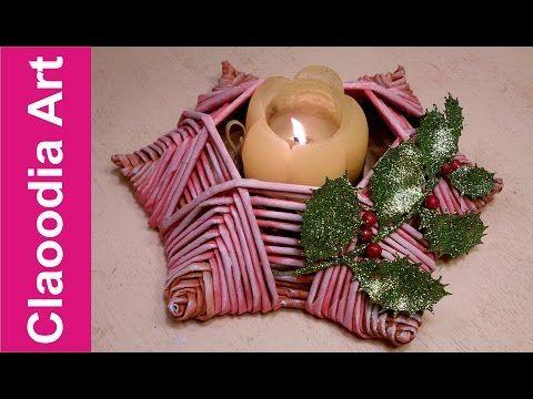 Świecznik gwiazdka, papierowa wiklina (Candlestick star, wicker paper) - YouTube