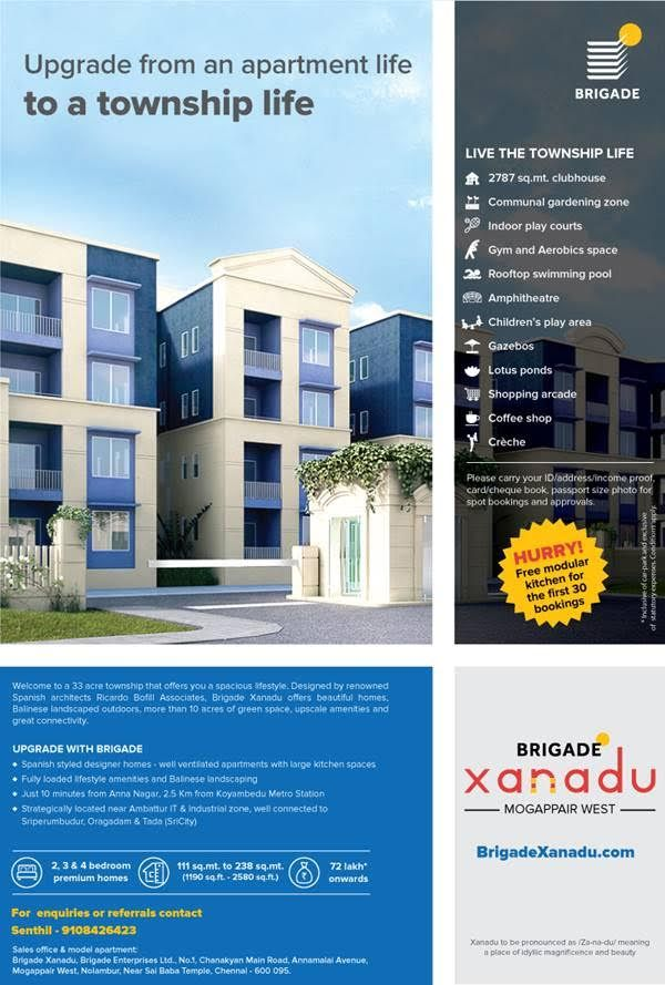 Brigade, Chennai, apartments, flat.Mogappair west, Affordable, Price, suburb