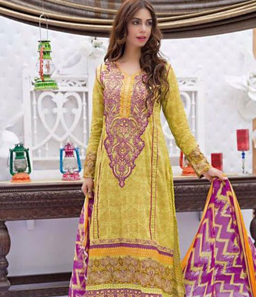 Abeeha By Rana Arts Embroidered Lawn Suits Collection EKR_572(A)