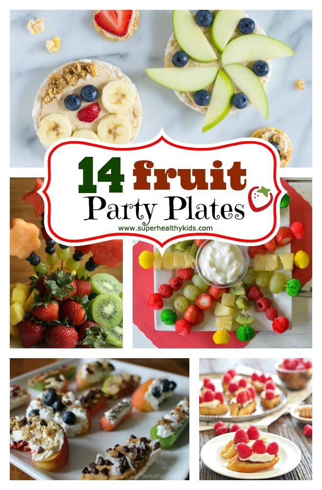 14 Fruit party plate ideas.  When you want to bring a healthy dish to a party!
