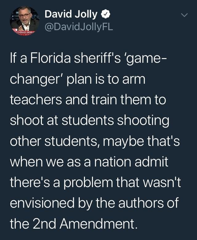 Just curious, do they want the black teachers to carry guns too, or just the white ones?