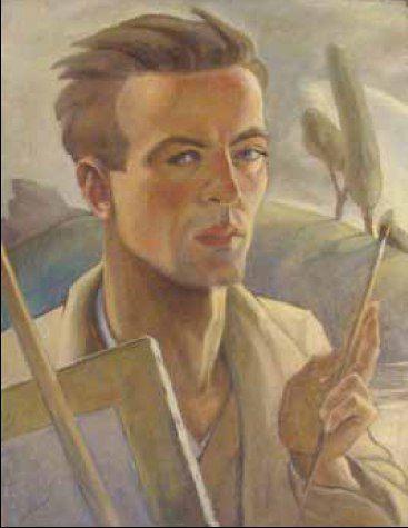 Karl Hübner / Карл Хюбнер (1902-1981) Румыния. Автопортрет.1932.