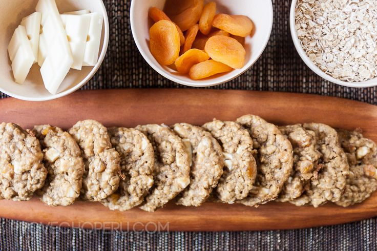 oatmeal apricot white chocolate cookies