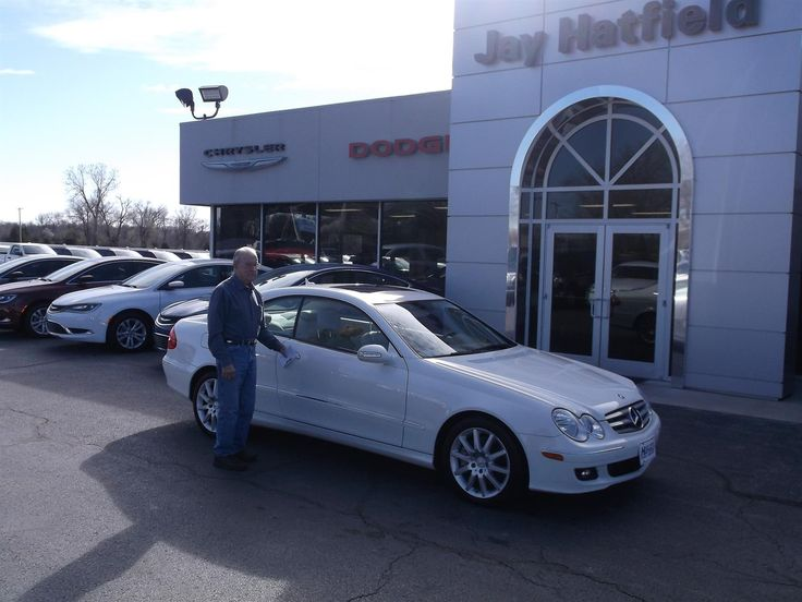HARVEY's new 2007 MERCEDES CLK 350! Congratulations and best wishes from Jay Hatfield CDJR and ADAM SMITH.