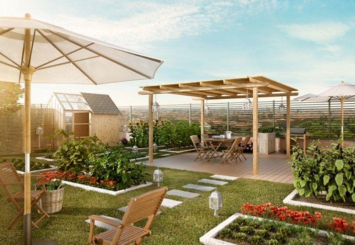 Un giardino con orto dove rilassarsi! Scopri come progettare un giardino con un orto dove coltivare e passare il tempo libero: http://www.leroymerlin.it/idee-progetti/progetti-esterno/giardino-orto