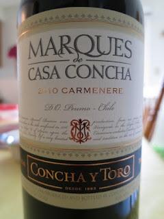 2010 Concha y Toro Marques de Casa Concha Carmenère (Chile) - Wine Review