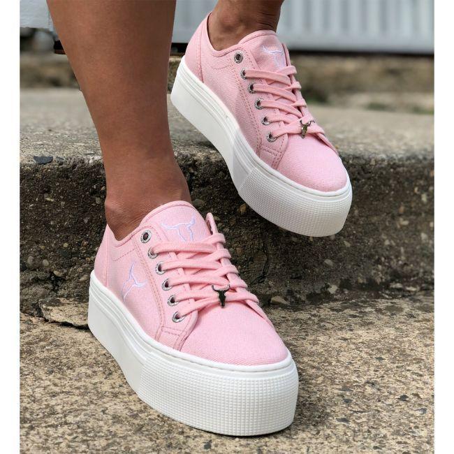 Ruby Canvas Pink Sneaker | Flatform