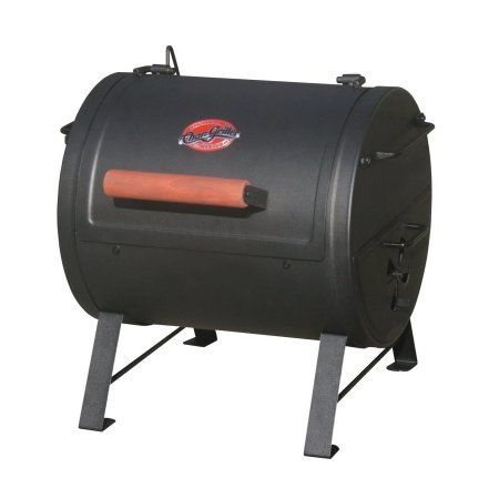 Char-Griller 250 sq inch Table Top Charcoal Grill and Smoker, Black