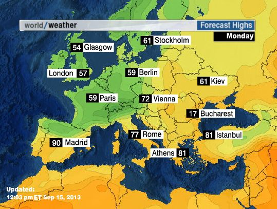 Seemorerocks: A weather forecast for Europe  |Weather Forecast Map Europe