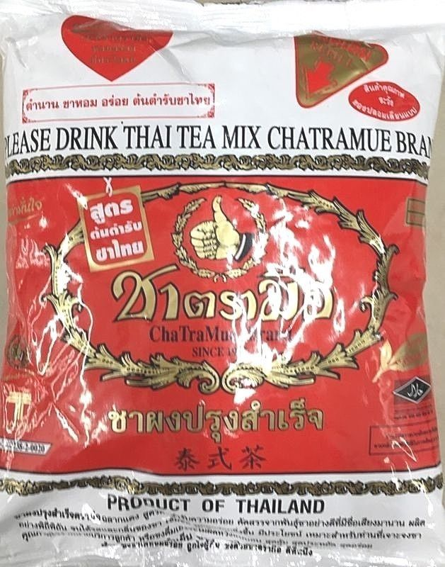 Original Chatramue Mix Brand Hand Number One Red Label Hot Thai Ice Tea 400g  #NumberOneBrandHand