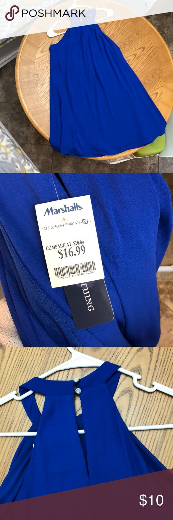 NWT Blue cocktail dress from Marshall's This dress is so stinking adorable! It would be perfect for so many occasions! Vibrant blue shift dress. Perfect and very comfortable. Would go well with that trusty pair of black wedges Marshalls Dresses