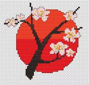 Cherry Blossom cross stitch pattern