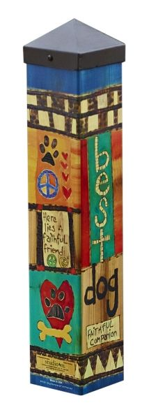 Carolina Creations | NEW <BR> PP Art Pole Memorial For Your Dog PP239 | Fine Art Contemporary Gift Gallery