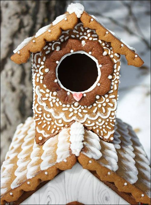 Gingerbread Birdhouse by Love Blossoms Cakery