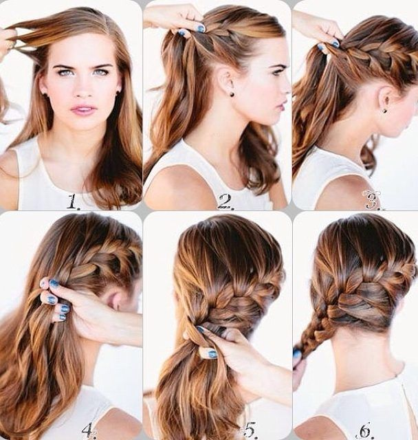 30 French Braids Hairstyles Step By Step How To French Braid Your Own French Braids Hairstyles Step B Hair Styles Everyday Hairstyles French Braid Hairstyles