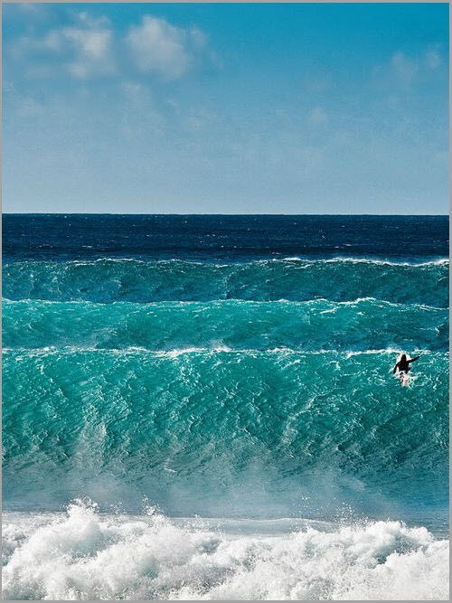 Wave after wave. Just look at them coming in, Perfectly ~ One after the other...!!       ~Laurie~