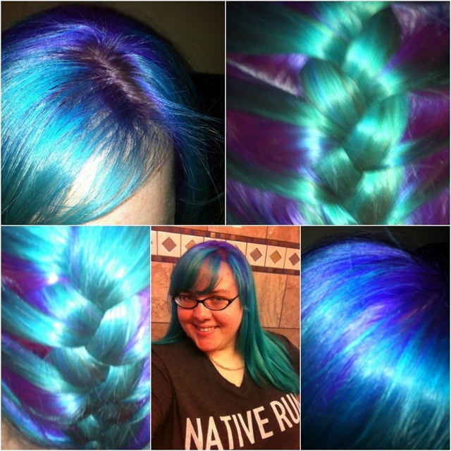 Manic Panic- Atomic Turquoise  amp  Ultra VioletHair Ideas  Hair Fashion    Violet Night Manic Panic