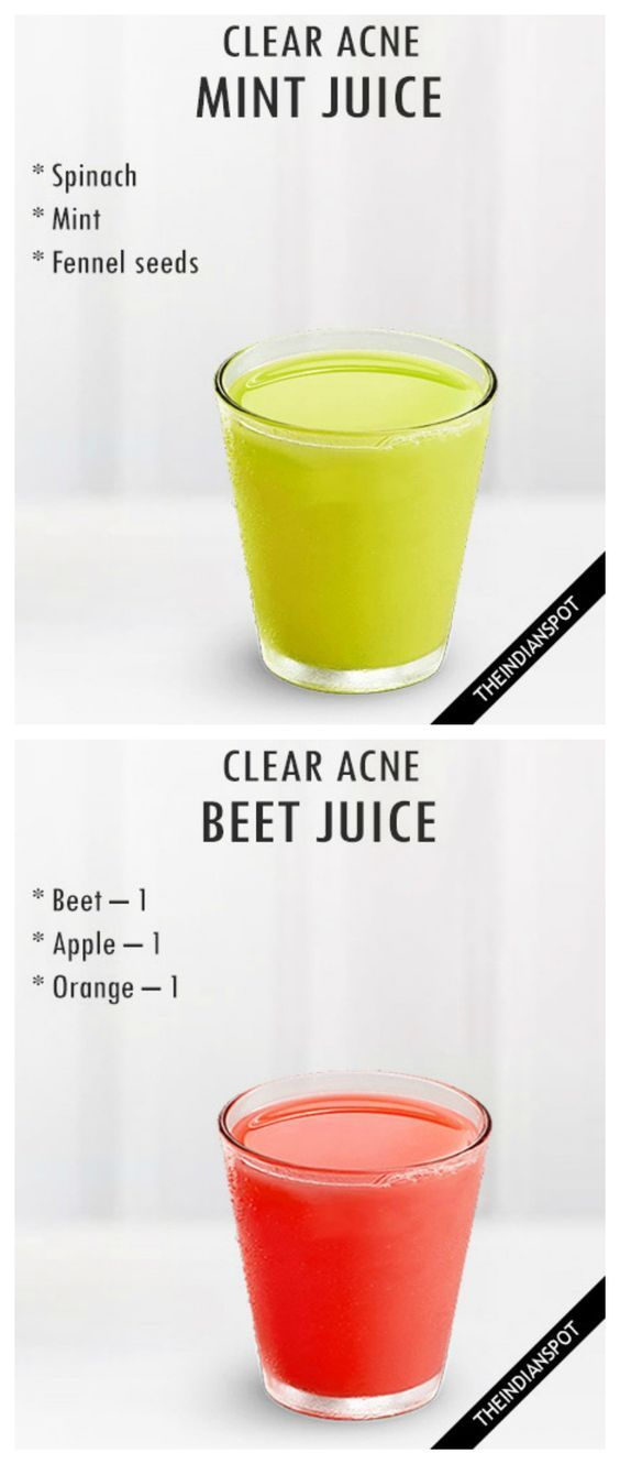 CLEAR ACNE WITH 4 JUICE RECIPES