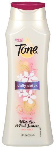 Tone Body Wash, Daily Detox,White Clay & Pink jasmine 18 Ounce by Tone. $4.89. With vitamin E. White clay and pink jasmine. Moisturizing body wash. Cover up not a chance. With new tone daily detox purifying body wash you will wash away daily impurities thanks to the unique formula with a blend of white clay, jasmine extract and vitamin e. The moisture-rich lather helps reveal skin you'll want to show off. Because under it all, you're even more dazzling. And everyone ...