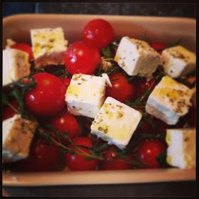 Lamb Chump Chops with 'Feta in the Oven' - Tea in a hurry! #feta