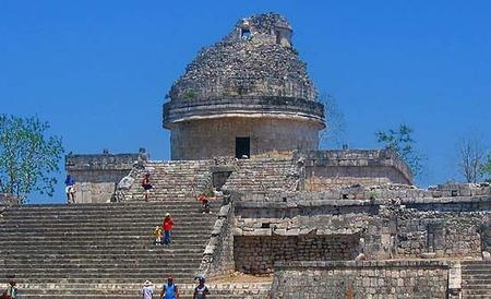 Ancient Mayans built this observatory near the sea at Tulum
