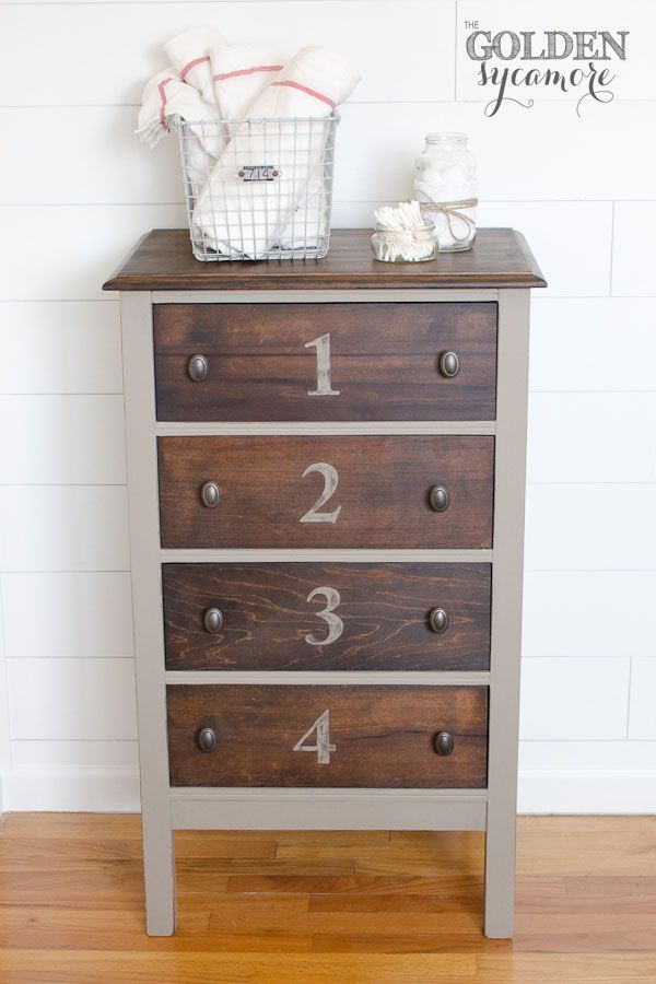 Chalk Paint® decorative paint by Annie Sloan on a stylish small dresser | By Allison of The Golden Sycamore.