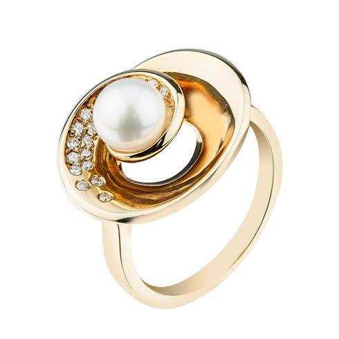 Inel cu perla si diamante B804