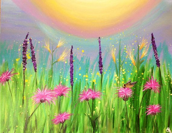 Field or Meadow of Summer Wildflowers and a by ColoradoColors, $169.00
