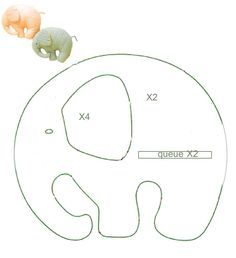 Elefantes | eladia muebles | Pinterest | Elefantes, Softies y Costura