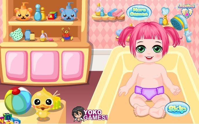 Przypilnuj małą dziewczynkę na czas nieobecności jej mamy! Zostań jej nianią i zaopiekuj się nią. Zacznij od kąpieli, zapewnij dziewczynce dobrą zabawę i miło spędzony czas. Spraw, że jej mama będzie zadowolona z Twojej opieki.  http://www.ubieranki.eu/gry/3006/niania-dla-slodkiej-dziewczynki.html