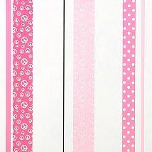 полоска, горошек и пацифики в розовом  цвете -это обои для комнаты девочки 307032 - Ампир Декор