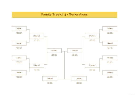 Family Tree With Aunts Uncles And Cousins Template Printable