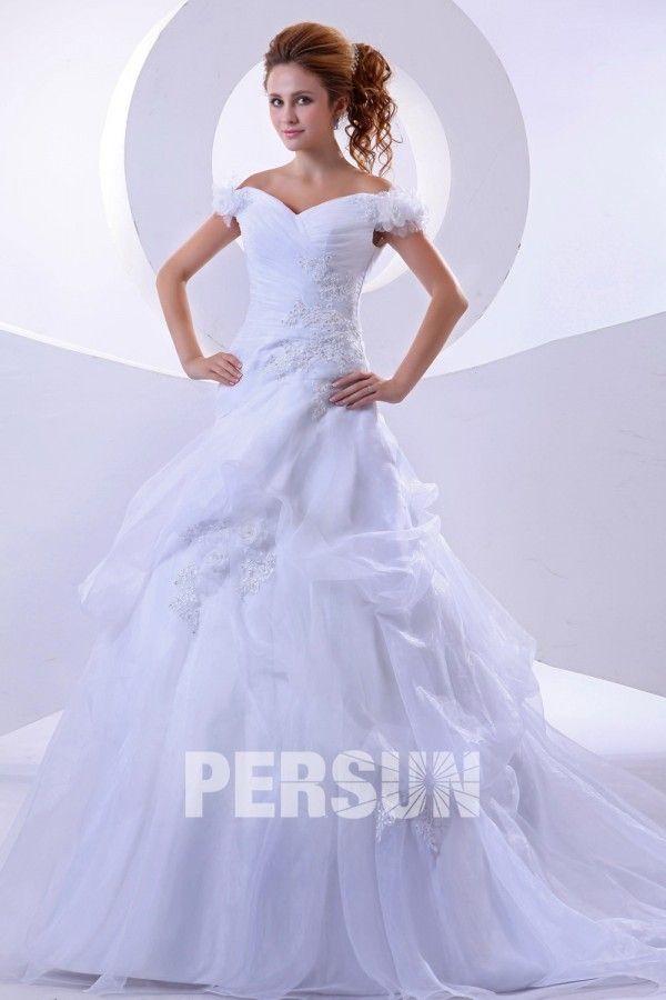 Nuziale #Fiori #Fatti a Mano #Abito Da #Sposa #Lungo - Persunit.com