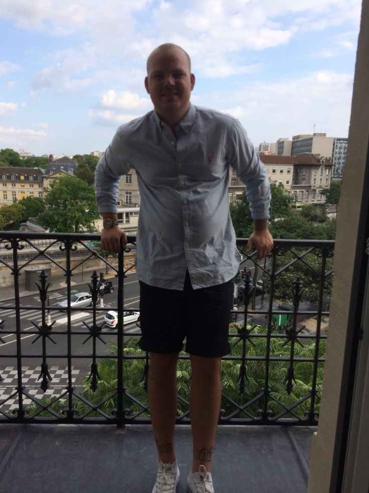 Ralph Lauren shirt - minimum shorts and Converse shoes