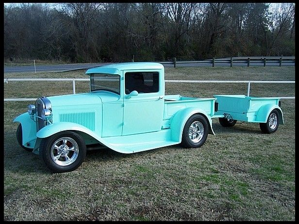 1931 Ford Street Rod Pickup Matching Trailer