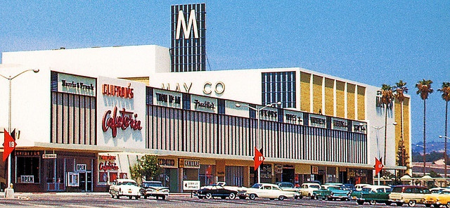 Eastland Center Mall, West Covina, CA. late 1950's.  It was so exciting to have a Mall, as we usually had to go shopping 25 miles away to Los Angeles for back to school, etc.