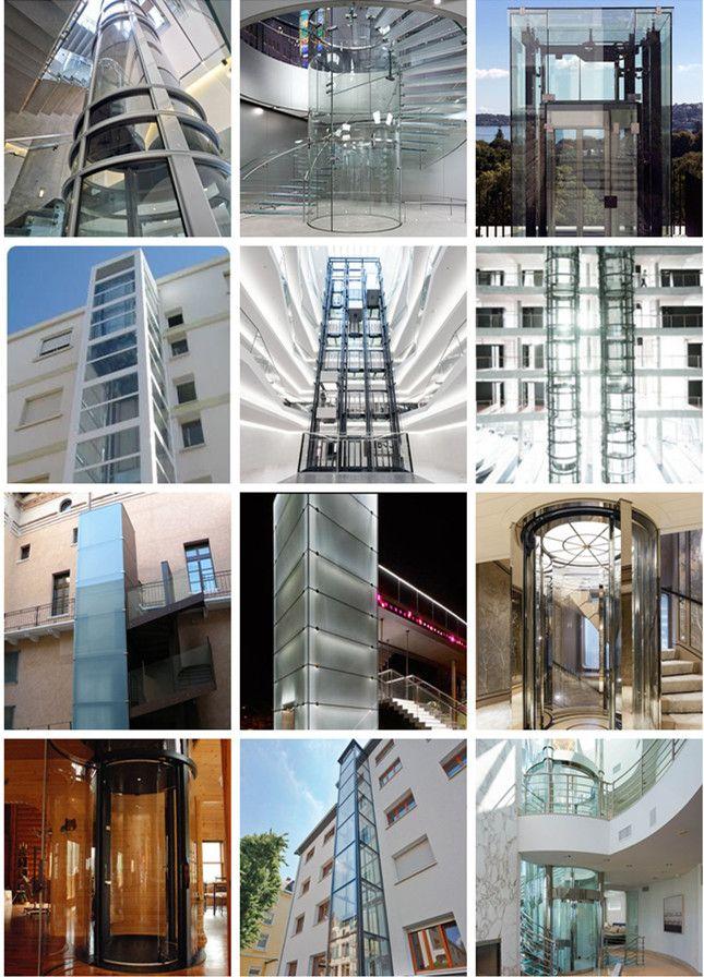 PVB tempered laminated glass lift, SGP tempered laminated