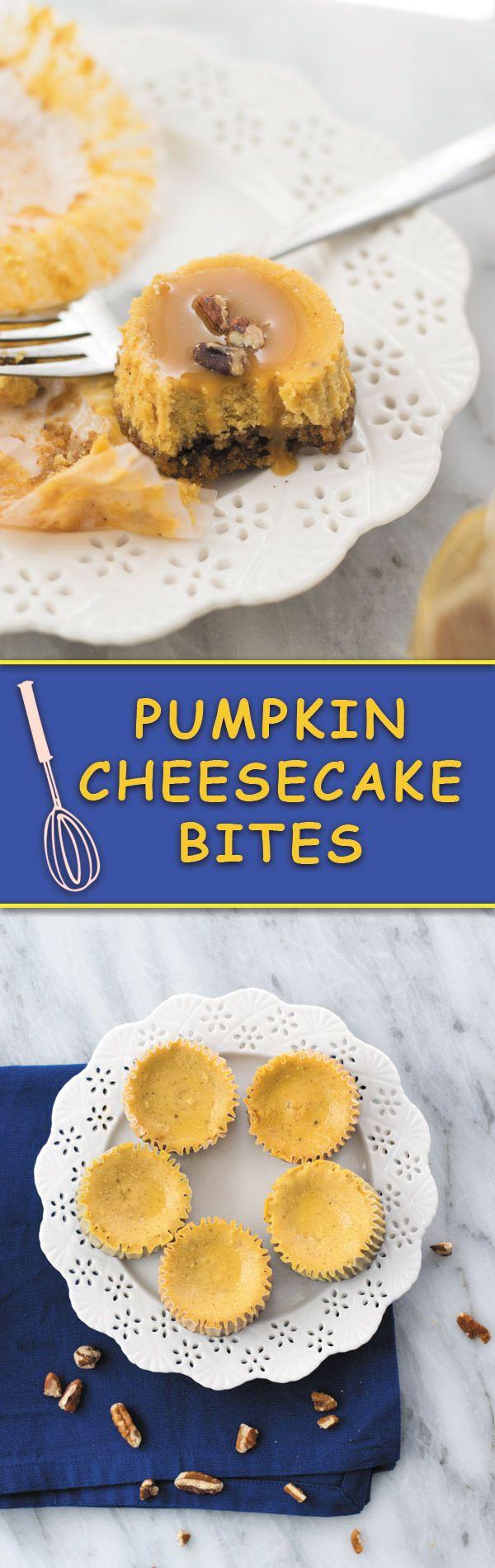 Pumpkin Cheesecake Bites - Delicious Pumpkin Cheesecake in bite forms ...