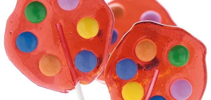 Barley Sugar Lollipops with Smarties