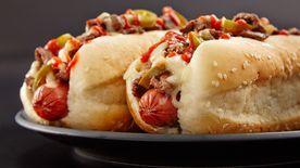 Philly Cheesesteak Hot Dog