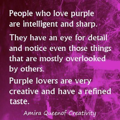 People who love purple