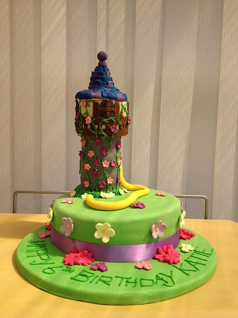 Disney Rapunzel Tangled Tower Birthday Cake