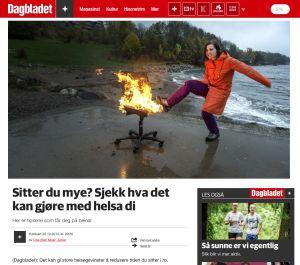 Dagbladet Pluss: Sitter du mye? Sjekk hva det kan gjøre med helsa di  Nettsak oktober 2014
