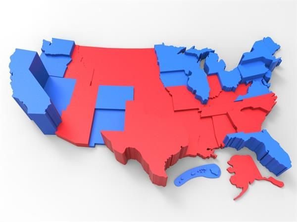 Help Kids Make Sense Of The U S Elections With This 3d Printed Electoral College Map