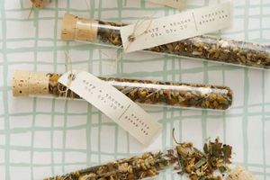 Test tube favors - filled with loose tea!